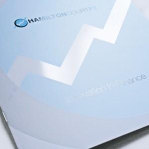 Custom Size Printed Brochures in Blue