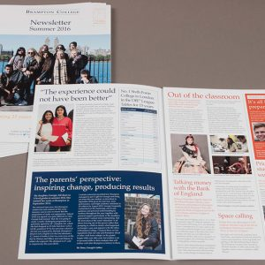 Print magazine and newsletter publications