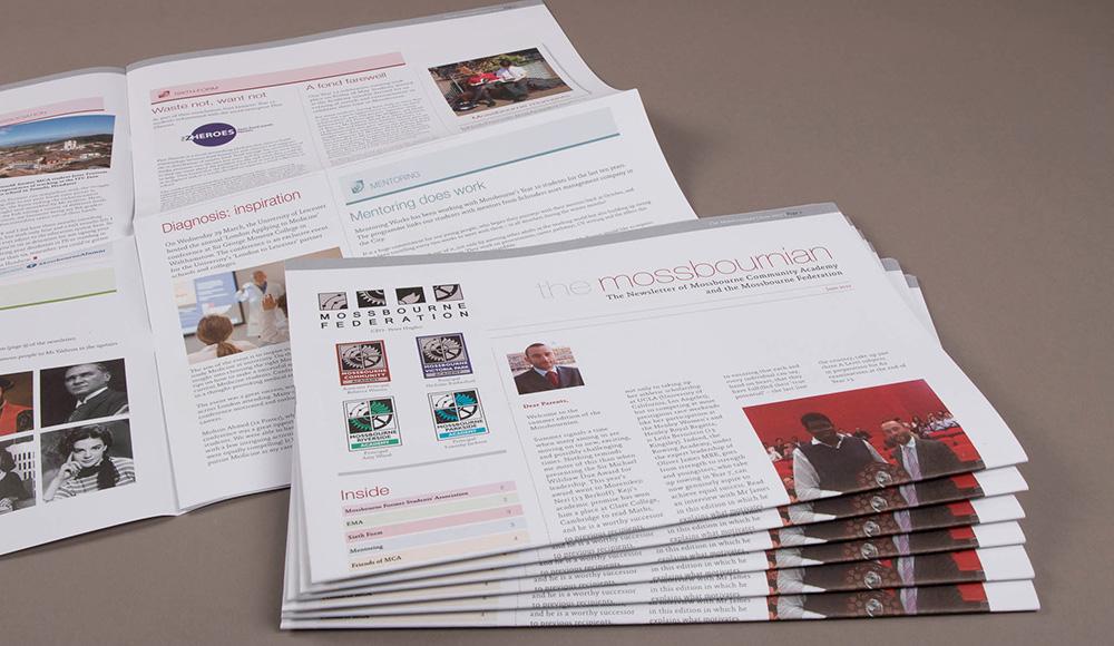 mossbourn printed newsletter