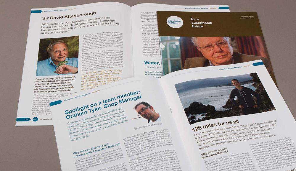 population matters printed magazine