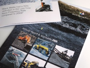 quality annual report printing in london