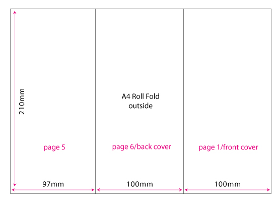 roll fold brochure template - how to set up a 6pp dl leaflet for print printhouse