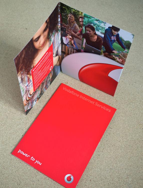 Vodafone litho printed folder