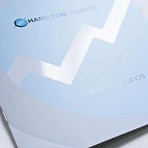 Custom Size Printed Brochures in Blue