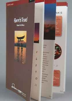 full colour printed A5 travel brochure