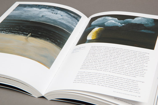 printed book for art gallery