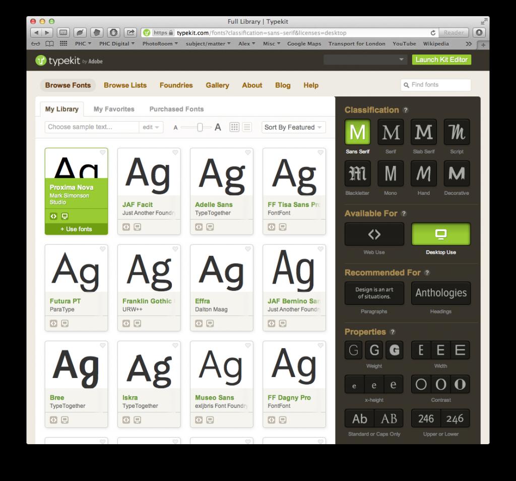 Choosing desktop fonts