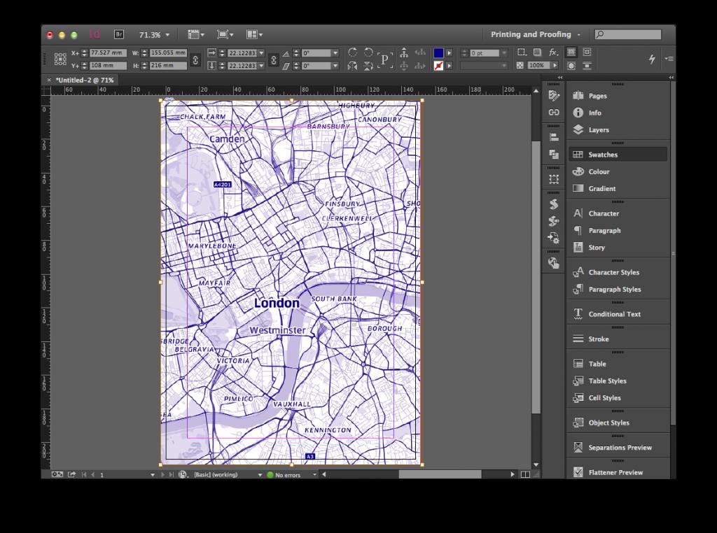InDesign Mapbox Map Spot