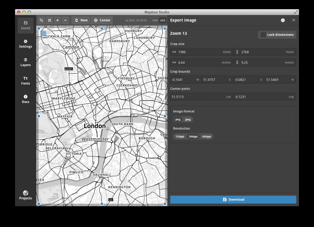 Mapbox Studio Export