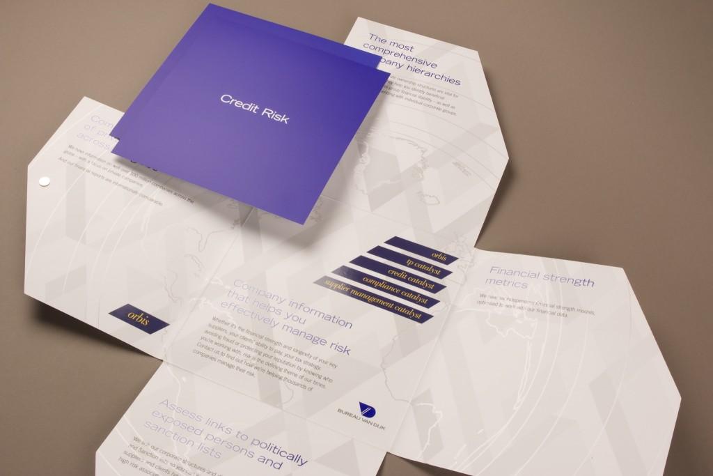 Custom design square printed presentation folders