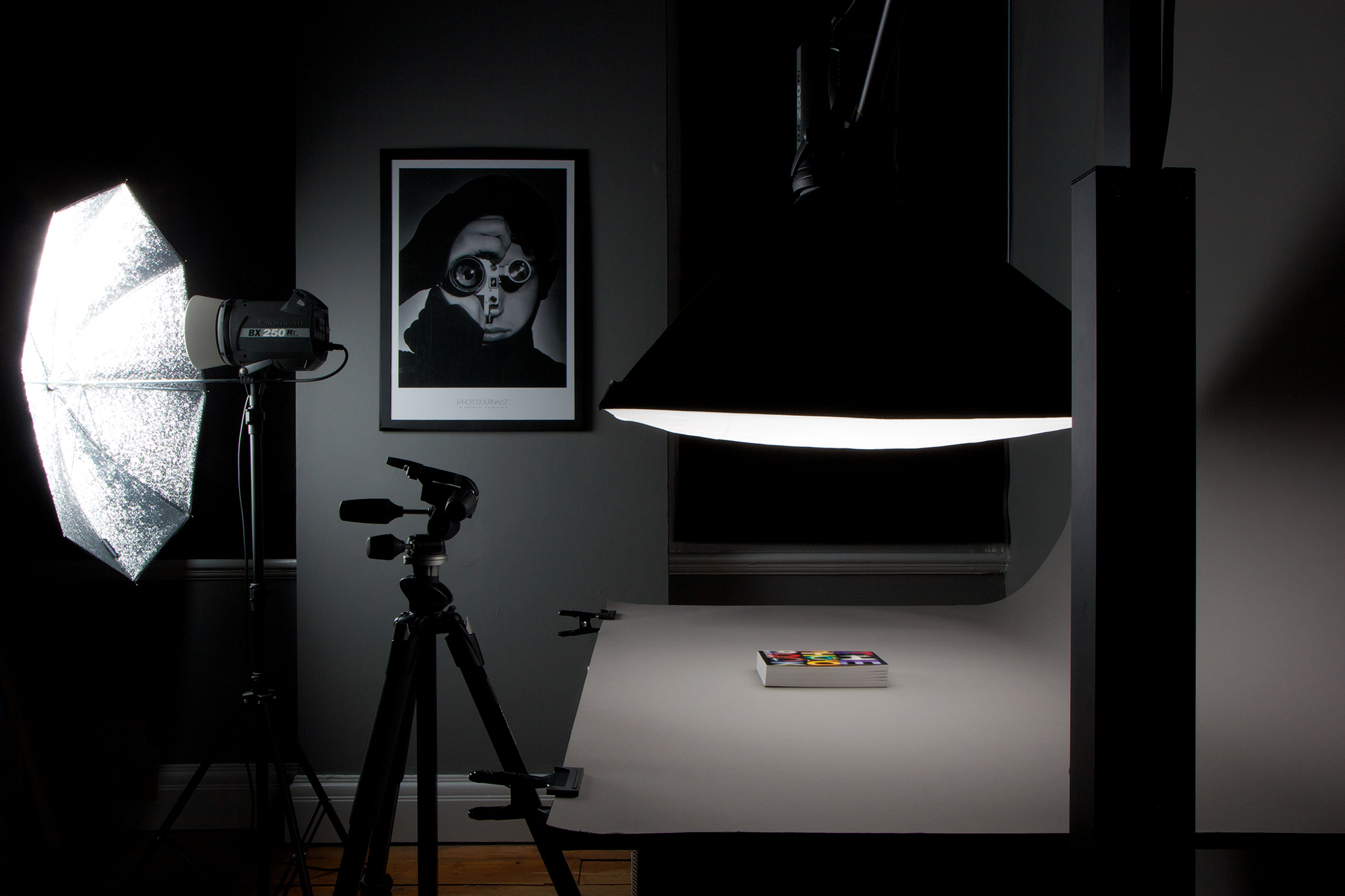 Our product photography Studio at PrintHouse, London.