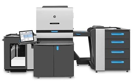 Digital printing London, UK. The Indigo digital printing press.