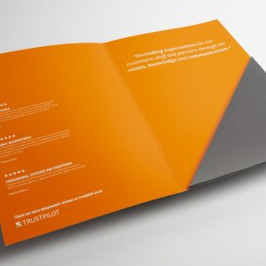 Printed presentation folders with pockets provide real flexibility