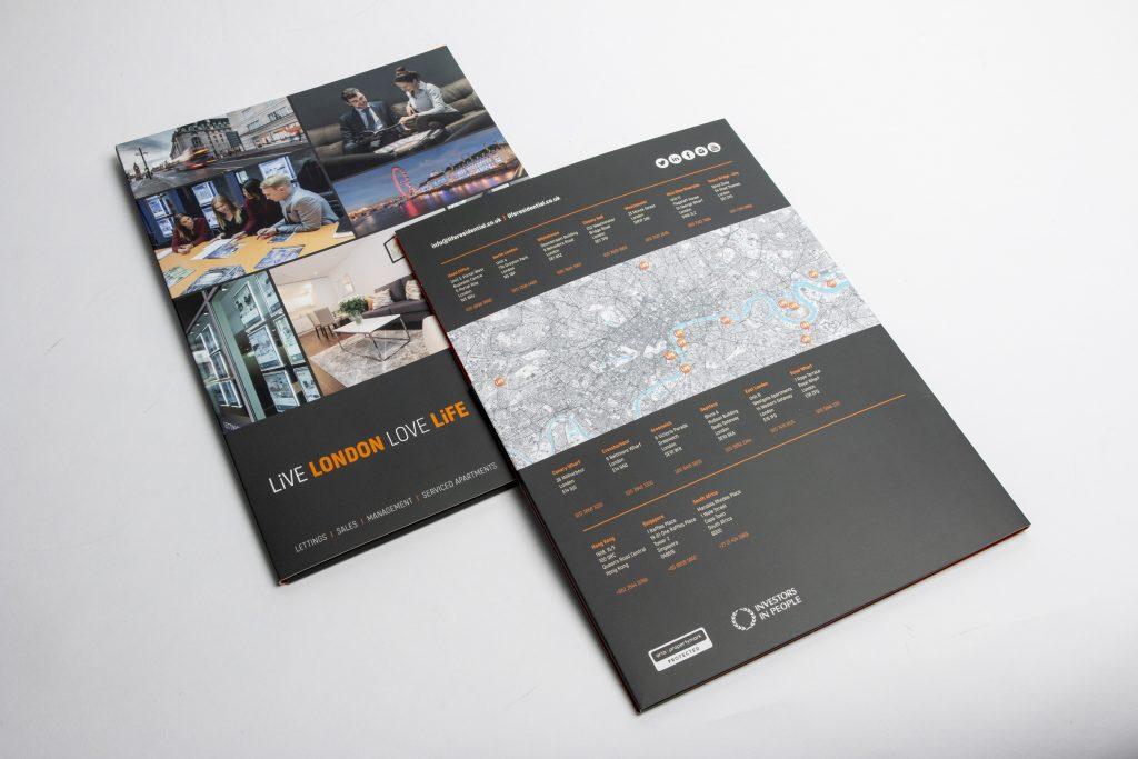 A4 presentation folder front and back