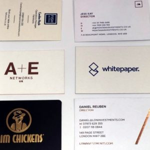 Luxury Business Cards – duplex or triplex layered